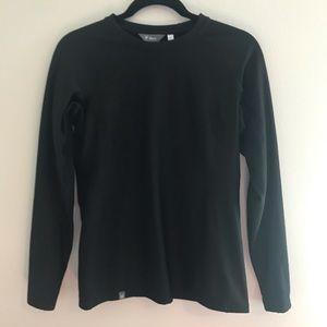 IBEX Black Crewneck Fleece Lined Top